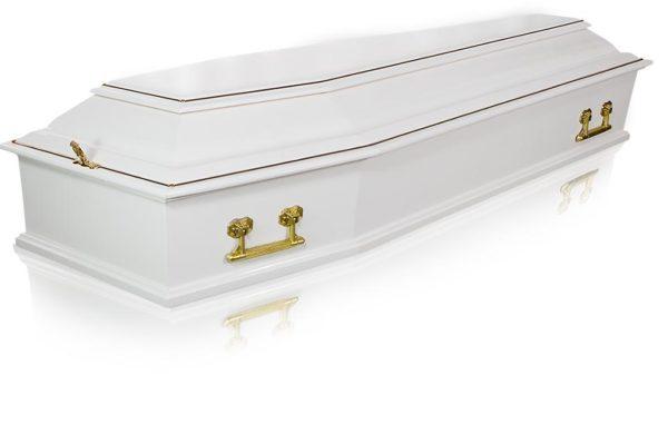 Гроб белый №2