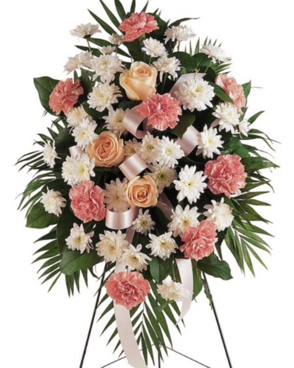 """Венок на похороны из живых цветов """"Изысканность"""""""
