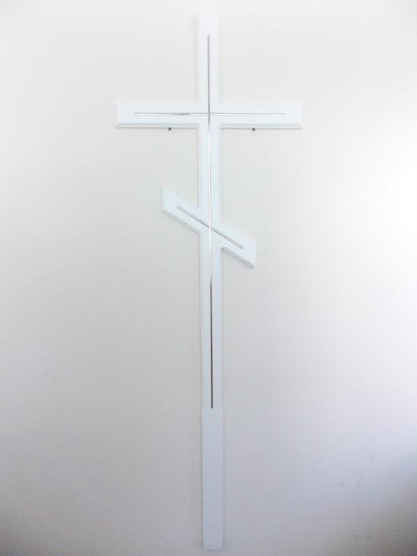 Крест деревянный православный белый