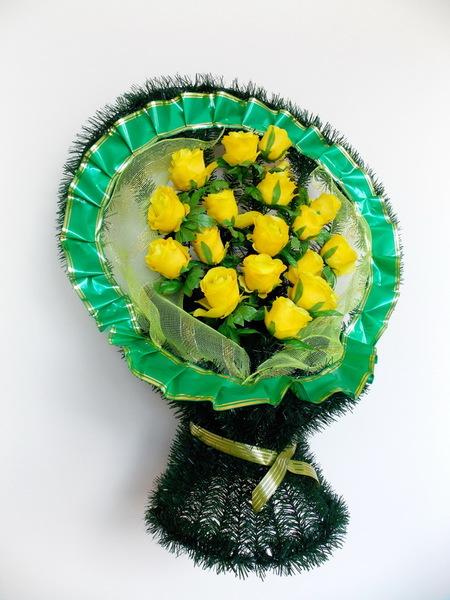Корзина ритуальная КС (желтая)