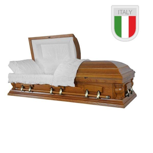 """Гроб-саркофаг """"Орех колонна круглая"""""""