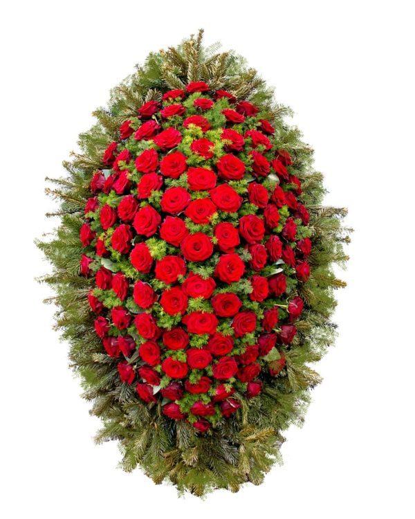 """Венок ритуальный из живых цветов """"Сдержанность"""""""