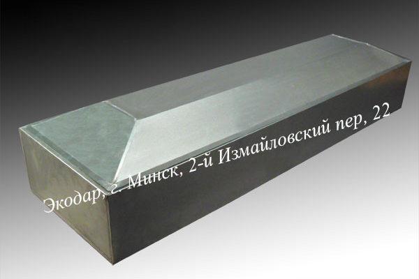 Цинковый гроб четырехгранный